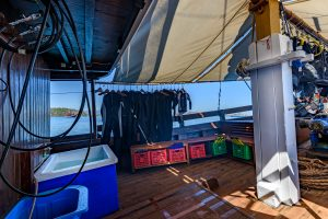 dive deck of Liveaboard MARI